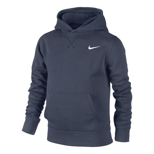 Nike Training YA76 Brushed Fleece Hoody Boys - Dark Blue, White