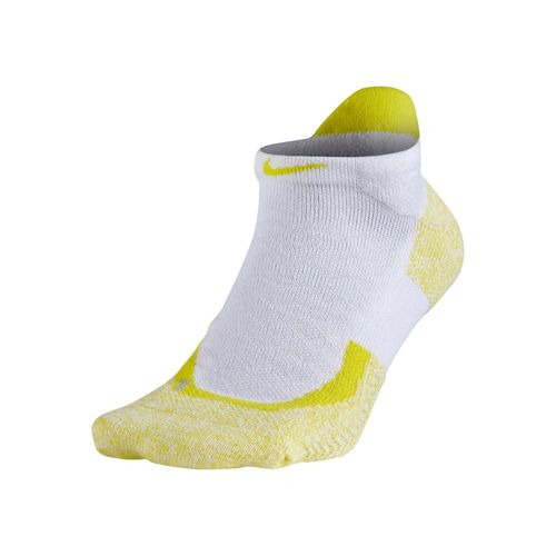 Nike Elite Tennis No Show Sports Socks 1 Pack - White, Yellow