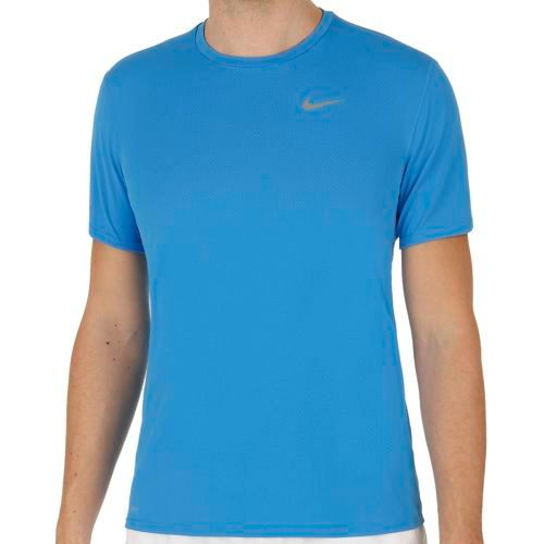 Nike Dri Fit Contour T-Shirt Men - Blue, Silver