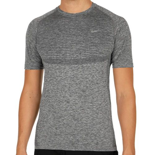Nike Dri Fit Knit T-Shirt Men - Black, Silver