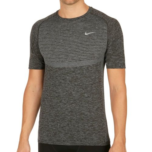 Nike Dri Fit Knit T-Shirt Men - Dark Grey, Silver