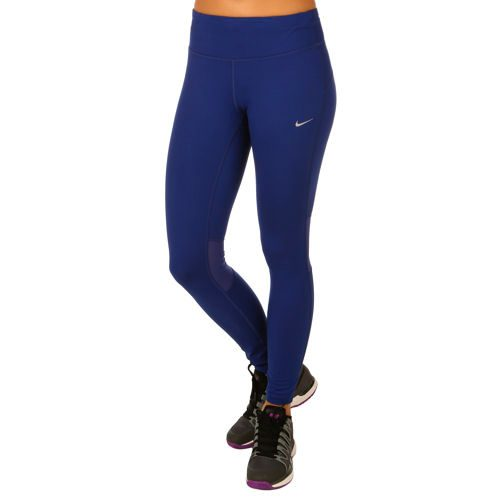 Nike Dri Fit Epic Run Training Pants Women - Dark Blue, Silver