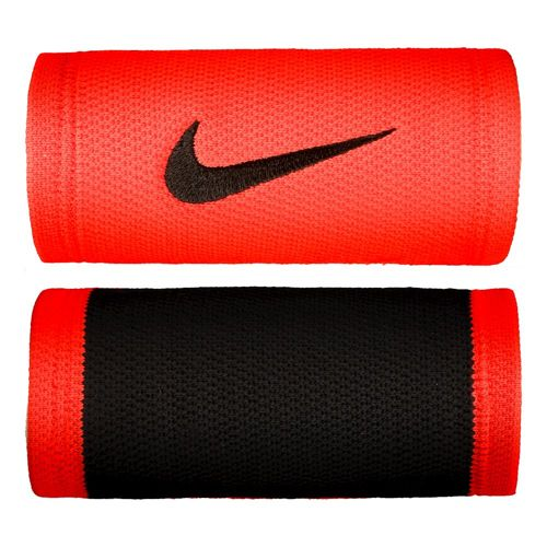 Nike Dri-Fit Stealth Doublewide Wristband 2 Pack - Red, Black