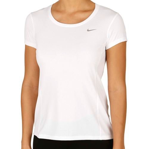 Nike Dry Contour Short Sleeve Women - White, Silver