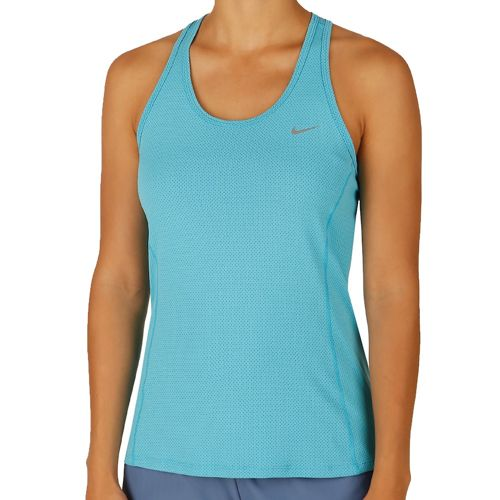 Nike Dri Fit Contour Top Women - Turquoise, Silver