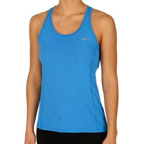Nike Dri Fit Contour Top Women - Blue, Silver