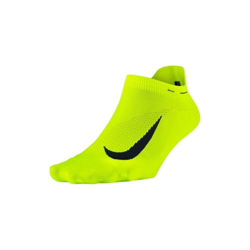Nike Elite Lightweight No-Show Sports Socks - Yellow, Black