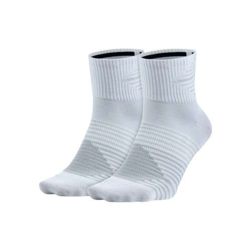 Nike Dri-FIT Lightweight Quarter Sports Socks 2 Pack - White, Grey