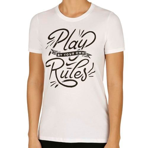 Nike -Play Rules T-Shirt Women - White, Black