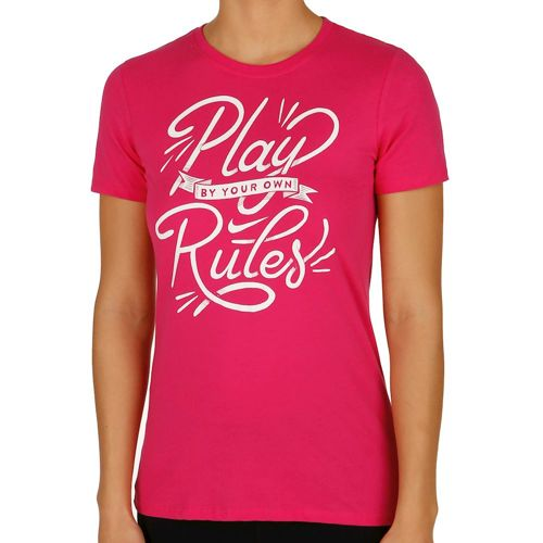 Nike -Play Rules T-Shirt Women - Pink, White