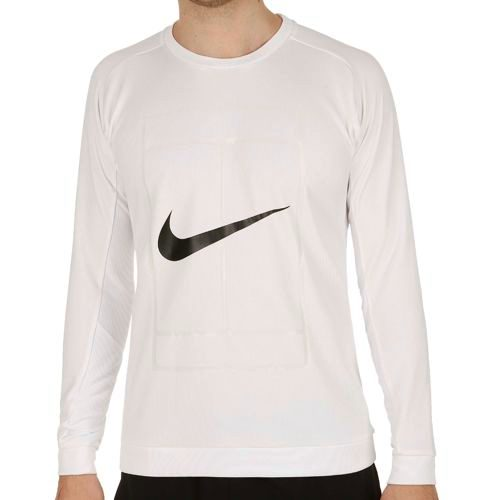 Nike Court Crew Long Sleeve Men - White, Black
