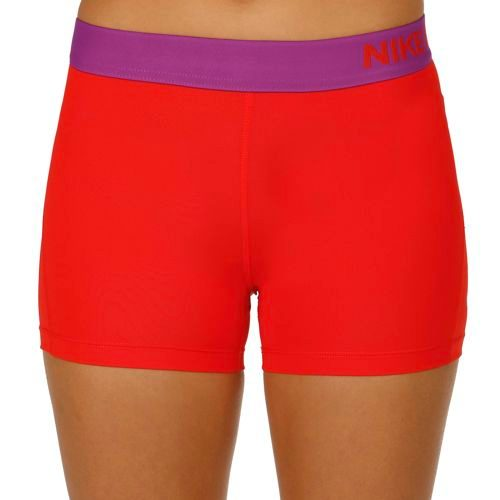 """Nike Pro Dry Fit 3"""" Shorts Women - Red, Violet"""