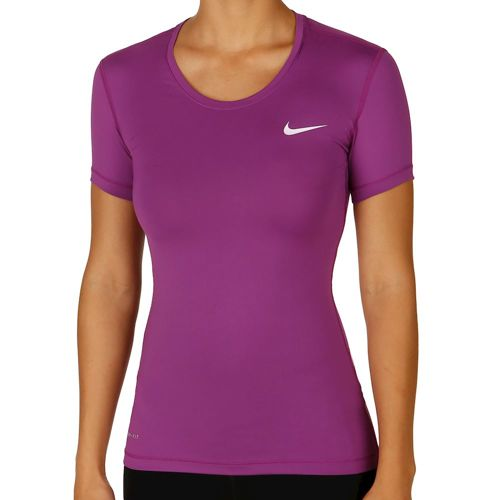 Nike Pro Dry Fit T-Shirt Women - Violet, White