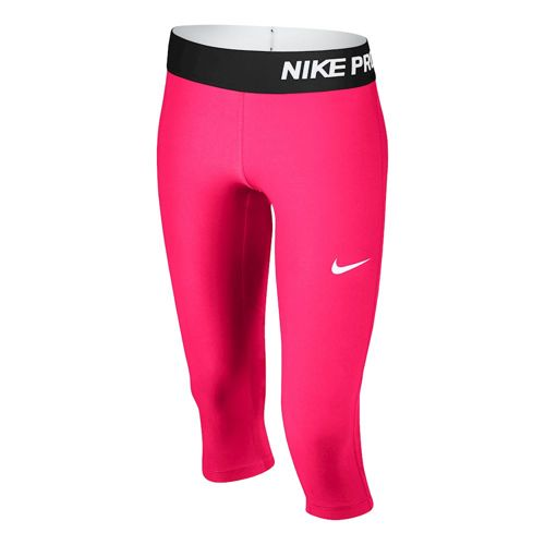 Nike Pro Dry Fit 3/4 Capri Pants Girls - Pink, Black