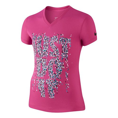 Nike Just Do It V-Neck T-Shirt Girls - Pink