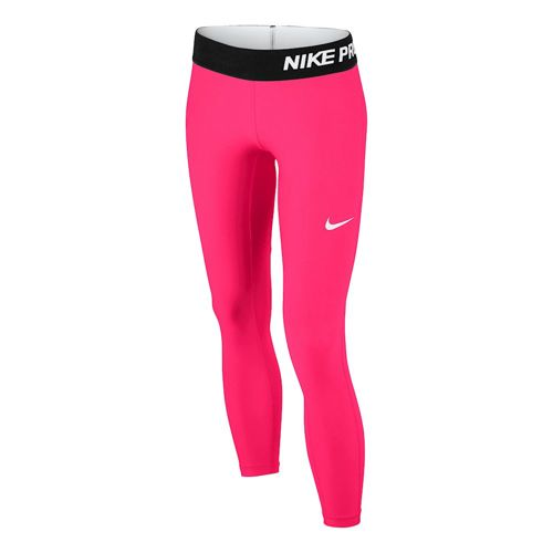 Nike Pro Dry Fit Tight Running Pants Girls - Pink, Black