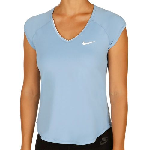 Nike Pure Short Sleeve Women - Light Blue, White
