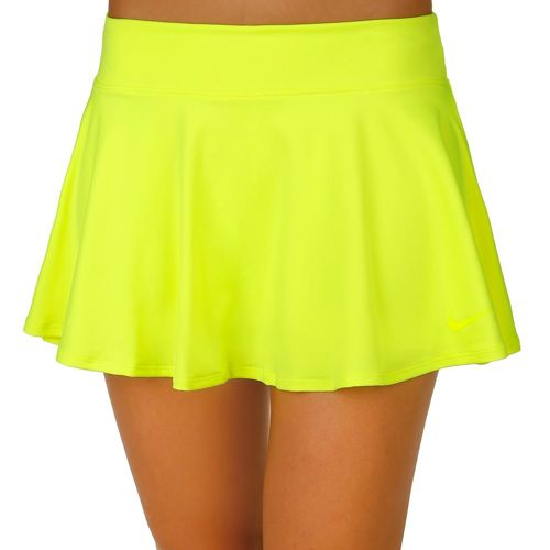 Nike Baseline Skirt Women - Neon Yellow