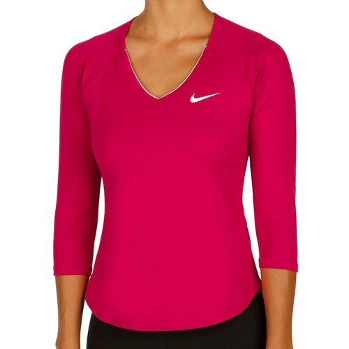Nike Pure 3/4 Long Sleeve Women - Pink, White
