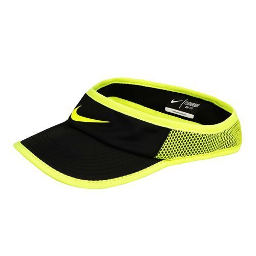 Nike Featherlight Visor Women - Black, Neon Yellow