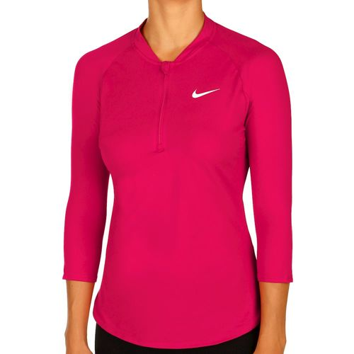 Nike Pure Dry Halfzip Long Sleeve Women - Pink, White