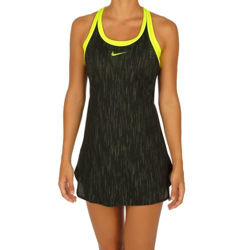 Nike Premier Dry Slam Dress Women - Black, Neon Yellow