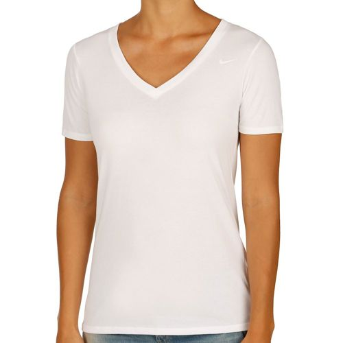 Nike Dri-Fit Cotton V-Neck 2.0 T-Shirt Women - White, Black