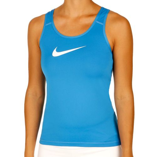 Nike Pro Dry Fit Tank Top Women - Blue, White