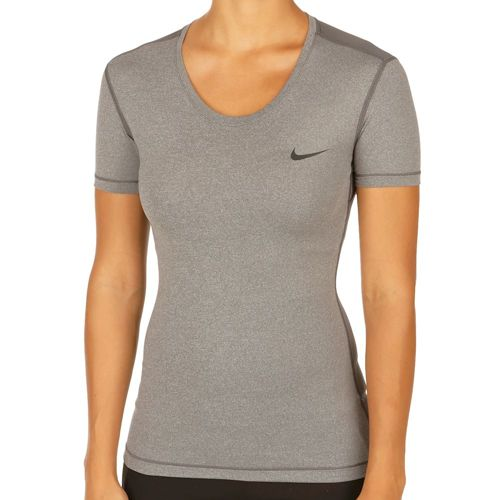 Nike Pro Cool T-Shirt Women - Dark Grey, Black