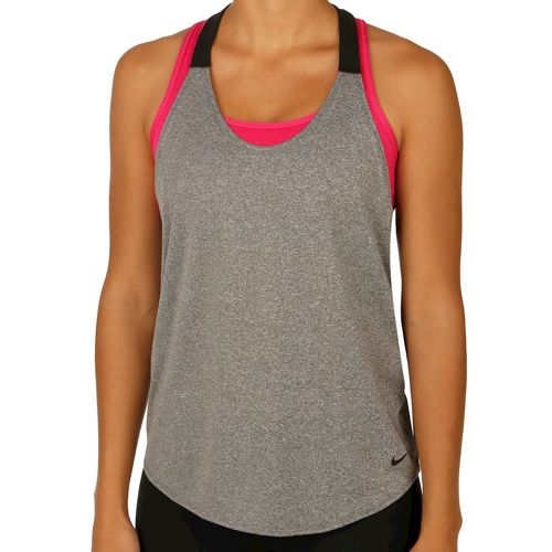 Nike Training Elastika Solid Tank Top Women - Dark Grey, Black
