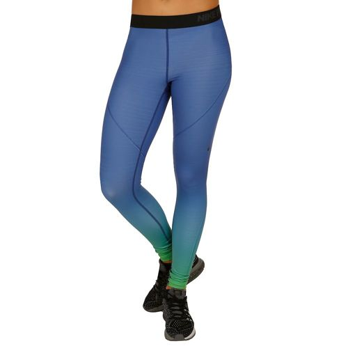 Nike Pro Dry Fit Hyperwarm Tight Leggings Women - Dark Blue, Green