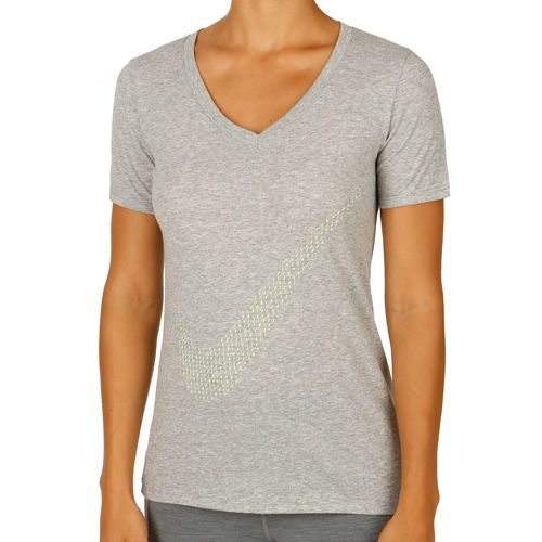 Nike Training T-Shirt Women - Dark Grey, Neon Yellow