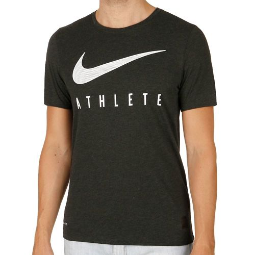 Nike Training Dri-Blend Mesh Swoosh Athlete T-Shirt Men - Black, White