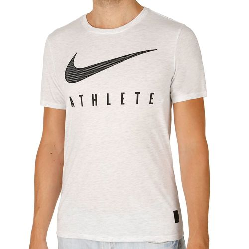 Nike Training Dri-Blend Mesh Swoosh Athlete T-Shirt Men - White, Black