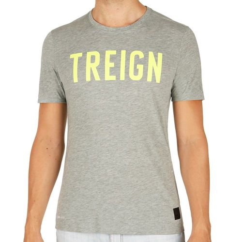 Nike Training Dri-Blend Treign T-Shirt Men - Dark Grey, Neon Yellow