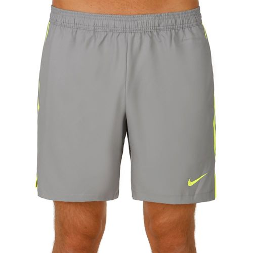 "Nike Court 7"" Shorts Men - Lightgrey, Neon Yellow"