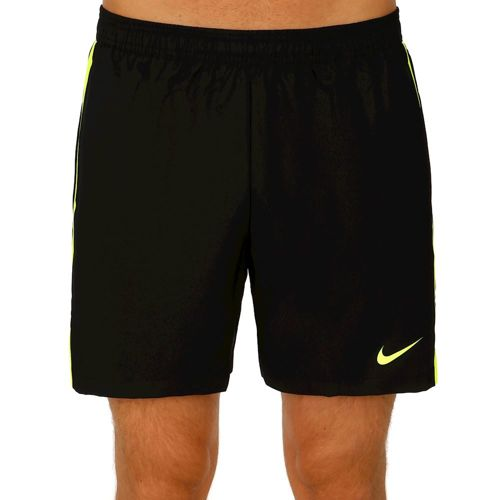 "Nike Court 7"" Shorts Men - Black, Neon Yellow"