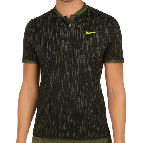 Nike Premier Dry Advantage Polo Men - Black, Neon Yellow