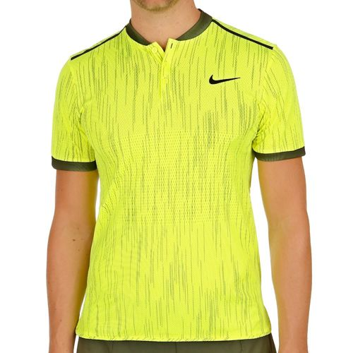 Nike Premier Dry Advantage Polo Men - Neon Yellow, Black