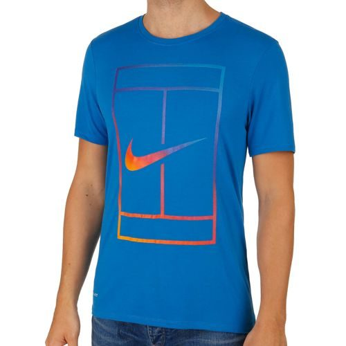 Nike Irridescent Court T-Shirt Men - Blue