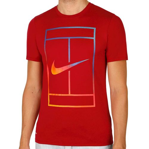 Nike Irridescent Court T-Shirt Men - Red