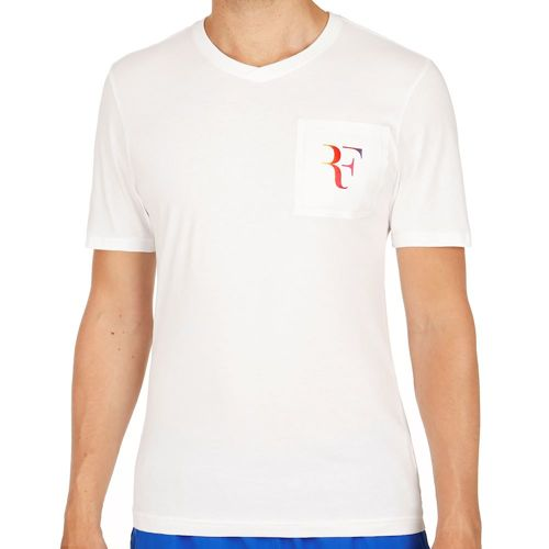 Nike Roger Federer Stealth V-Neck T-Shirt Men - White
