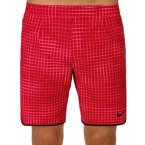 "Nike Advantage Gladiator Printed 9"" Shorts Men - Red, Black"