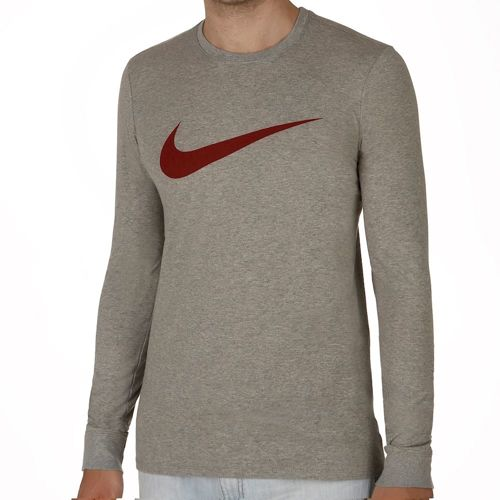 Nike Icon Swoosh Long Sleeve Men - Dark Grey, Red