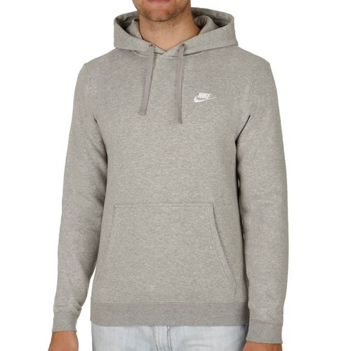 Nike Sportswear Fleece Hoody Men - Lightgrey, White