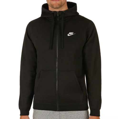 Nike Sportswear Full Zip Zip Hoodie Men - Black, White