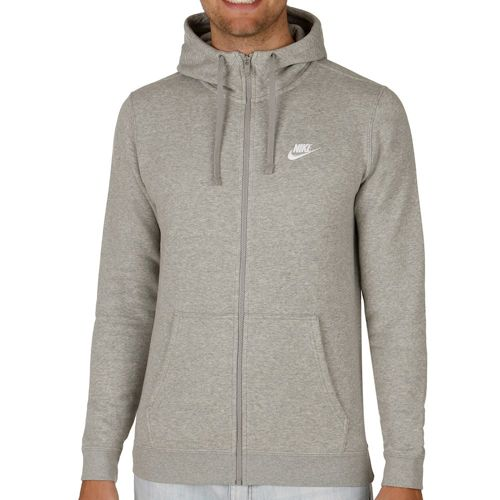 Nike Sportswear Full Zip Hoodie Men - Dark Grey, White