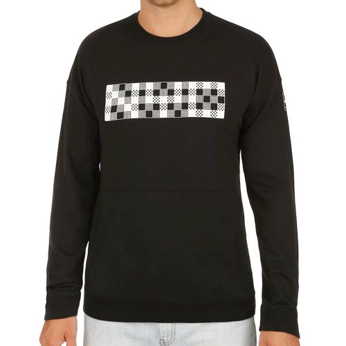 Nike Court NYC Crew Long Sleeve Men - Black, White