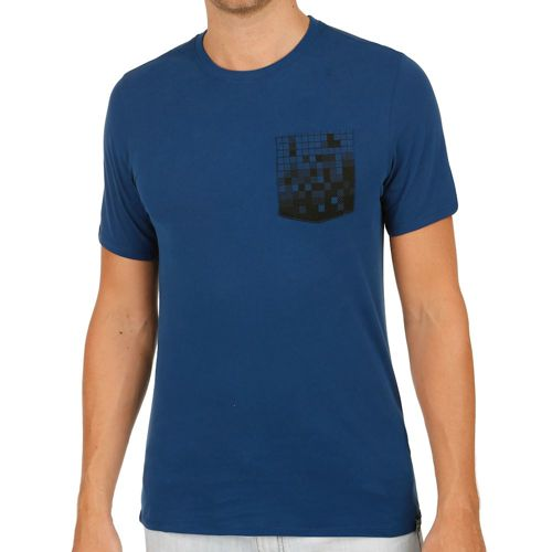 Nike Court Pixel Pocket T-Shirt Men - Dark Blue, Black