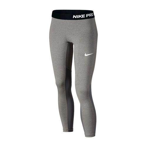 Nike Pro Dry Fit Tight Leggings Girls - Dark Grey, Black